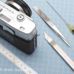中古カメラ修理 モルトプレーンの貼り方